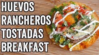 HUEVOS RANCHEROS TOSTADAS by  My Virgin Kitchen
