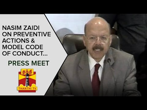 Nasim-Zaidi-on-Preventive-Actions-and-Model-code-of-Conduct-Press-Meet--Thanthi-TV
