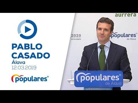Pablo Casado interviene en el Foro Empresarial 2020 Diálogos por Vitoria y Álava