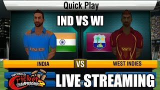 INDIA VS WEST INDIES T20 MATCH IN WCC2