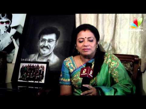 Poornima Bhagyaraj - I'm excited to act with Vijay & Mohanlal in Jilla | Vijay Birthday Celebration