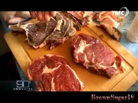 Regardez le procédé pour vendre de la viande périmée ...