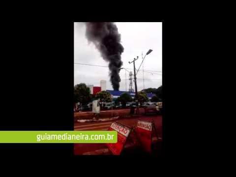 Incêndio causa correria em supermercado de Missal e assusta moradores