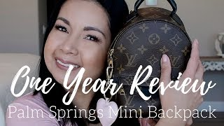 Video Louis Vuitton Palm Springs Mini Backpack   One Year + Review   LalaLV MP3, 3GP, MP4, WEBM, AVI, FLV Juni 2018