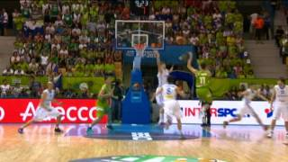 Play of the Game G. Vidmar Czech R.-Slovenia EuroBasket 2013