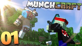 MunchCraft Returns!! Survival Multiplayer w/ TyranitarTube  #1 by Munching Orange