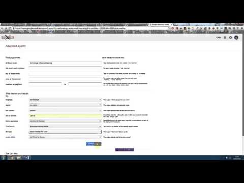 #124 Using Google Advanced Search to narrow and refine your searches