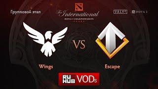 Wings vs Escape, game 1