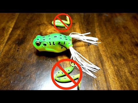 How to change Hollow Body Frog legs to GET MORE BITES!!! (MTB Unboxing & Tips)