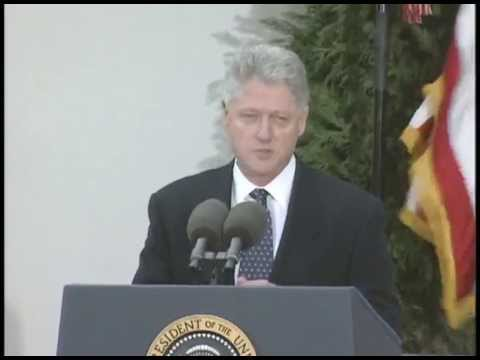 impeachment trial - This is video footage of President Clinton delivering remarks on the conclusion of the senate impeachment trial results. This footage is official public reco...