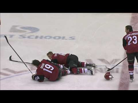Video: Doan shaken up after colliding with teammate Chychrun