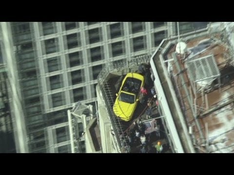 State - How'd they get a Ford Mustang atop the Empire State Building? CNN's Jeanne Moos goes under the hood to find out.