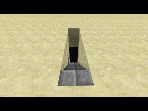 Secret/Hidden Piston Stairs v3 [Minecraft Redstone Tutorials]