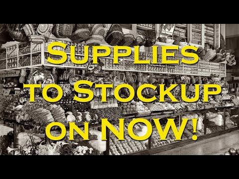 Supplies to Stock-up on Now, before Fall arrives