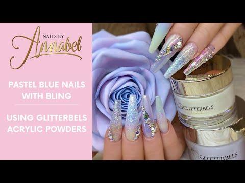 Acrylic nails - Pastel NailsAll AcrylicGlitterbels AcrylicNotPolishUnicorn Chrome/Flake application