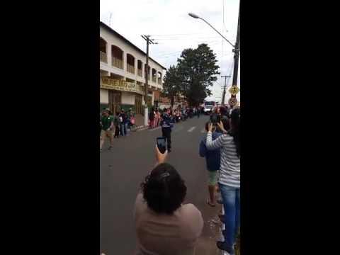 Tocha olimpica em paraguaçu paulista