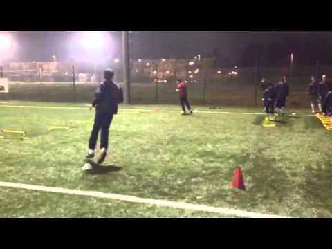 Calcio: esercitazione rapidità/tecnica di corsa e velocità