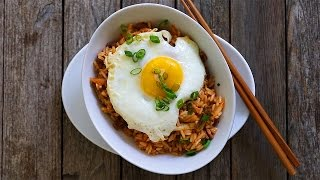 Koreanischer Gebratener Reis mit Kimchi