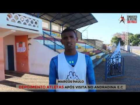 ATLETAS DO ANDRADINA E.C. APÓS VISITA DO SINDICATO DE ATLETAS SP