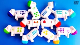 Learn Colors with Play DohLearn Colours with Squishy Glitter FoamLearn Numbers 1-10 Counting CowsClick to Subscribe to Dada Pups https://www.youtube.com/channel/UC1Sir-iKkghO5SSguzYC2lgSee other interesting videos:https://www.youtube.com/channel/UC1Sir-iKkghO5SSguzYC2lg/videos