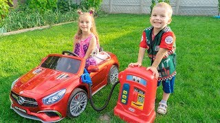 Video Melissa and Arthur pretend play with cars and ride on power wheels Compilation MP3, 3GP, MP4, WEBM, AVI, FLV September 2018