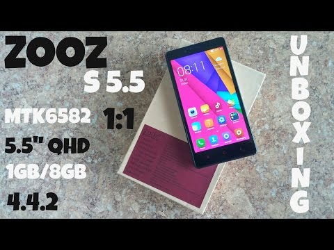 ZOOZ S5.5 MTK6582 - Low Cost - Xiaomi Redmi Note Clone - Unboxing!