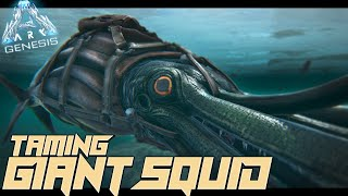 TAMING A GIANT SQUID also MANY DEATHS!! - Ark Genesis [#17]
