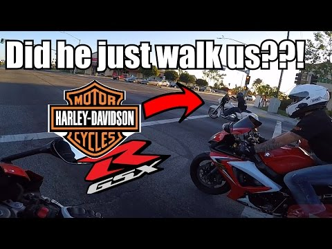 Did That Really Just Happen?! | GSXRs vs Harley | GSXRs vs Camaro SS