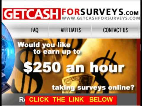 Work From Home Doing Online Survey