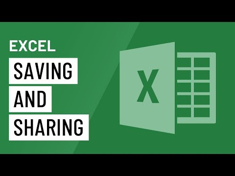 Excel 2016: Saving And Sharing
