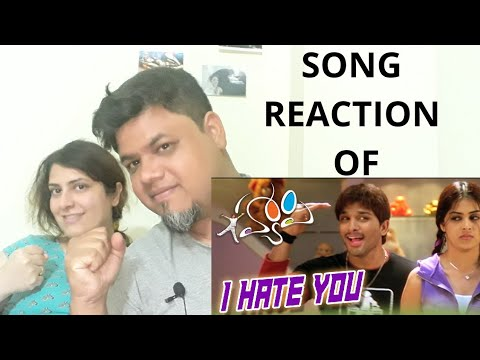 I Hate You Video Song Reaction || Happy Movie || Allu Arjun, Genelia|Foreigner VS Indian Reaction