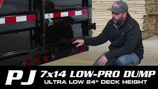 2. #1 SELLER: 7 x 14 PJ Low-Pro Dump Trailer (DL) Walk-around