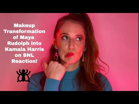 Last Looks! Makeup Transformation of Maya Rudolph into Kamala Harris on SNL/ MUA Reaction video
