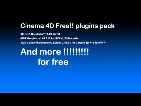 telechargement Cinema 4d plugins pack for free