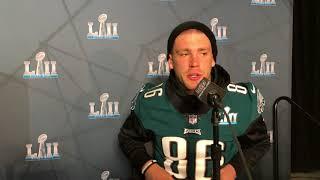 Philadelphia Eagles tight end Zach Ertz shares about Jesus Christ at the Super Bowl