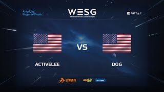 Activelee vs Dog, game 1