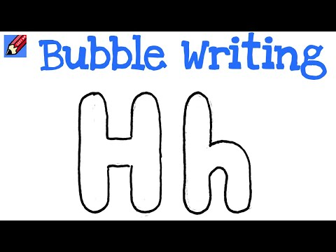 H In Bubble Letters how to draw the letter p in
