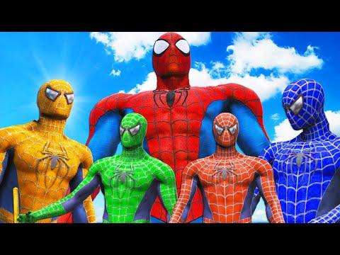 TEAM SPIDER-MAN VS SPIDERMAN MUSCLE - EPIC SUPERHEROES BATTLE