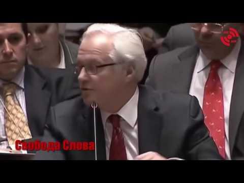 Как Виталий Чуркин усмиряет представителя США в ООН - DomaVideo.Ru