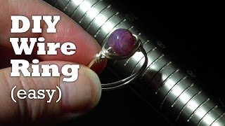 How to Make a Wire Wrapped Ring in Under 3 Minutes - YouTube