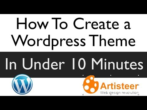 How To make a WordPress Theme In Under 10 Minutes – Artisteer Review