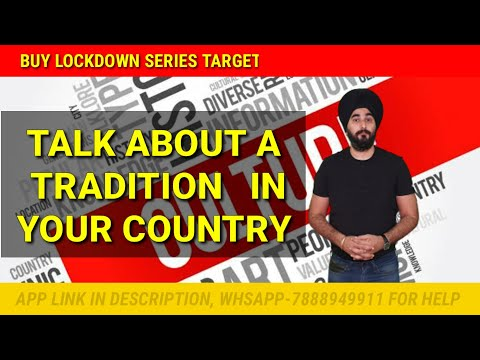 A Tradition Of Your Country | New Cue Card Tradition Of Country | Raman Sir Ielts Sample Band 8.0