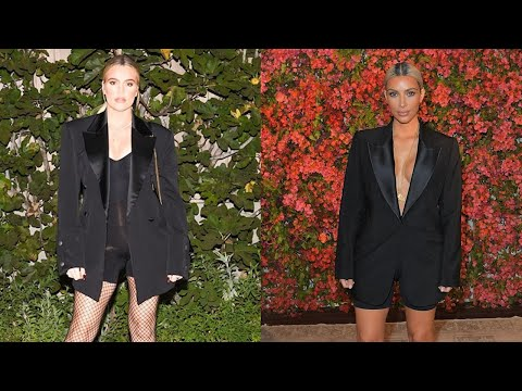 Kim Kardashian Steals Pregnant Sister Khloe's Chic Style Just One Day Later -- See the Look!