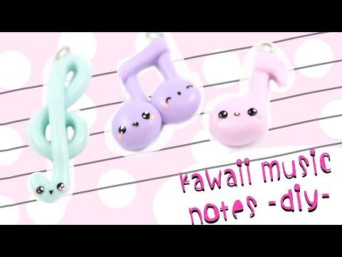 fimo - pendenti a forma di note musicali