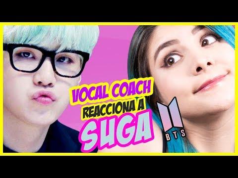 BTS - SUGA  Rap Line BTS  VOCAL COACH REACCIONA  Gret Rocha