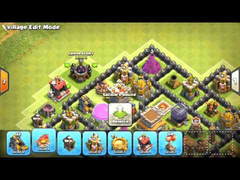 Clash of Clans Town Hall 8 TROPHY Base 2018