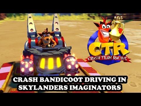 gowbuuzer skylanders imaginators racing sections with crash cortex