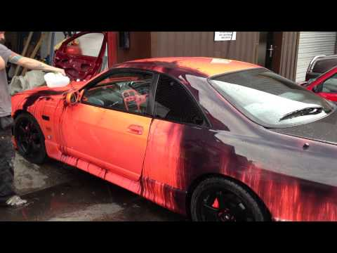 Nissan Skyline R33 with Heat Sensitive Paint | By Auto Kandy
