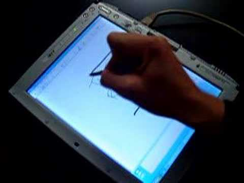 Demo of Acer tablet PC