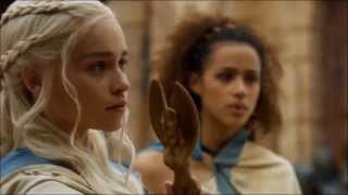 "Daenerys Targaryen gives her dragon the order, ""Dracarys"". She showed up and stole the show!"